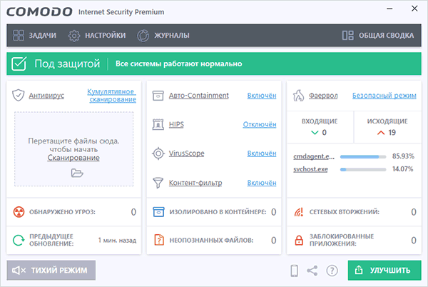 Антивирус Comodo Internet Security Premium