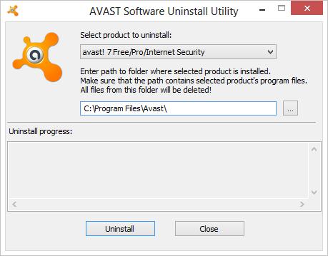 Удаление антивируса Аваст с помощью Avast Uninstall Utility