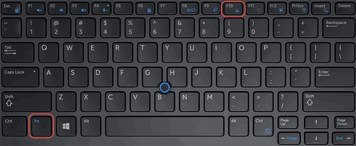 Включение подсветки на клавиатуре Dell