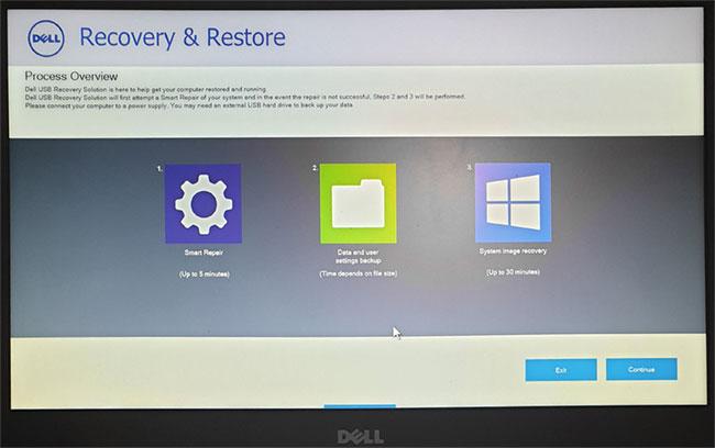 Восстановление системы в Dell Recovery and Restore