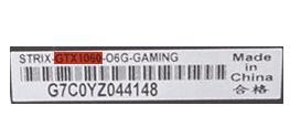 Информация о модели видеокарты на наклейке