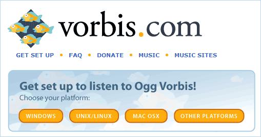 Загрузка кодека vorbis ogg с официального сайта