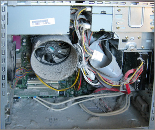 Пыль внутри компьютера