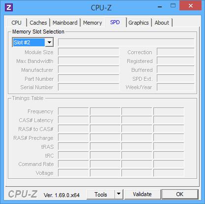 Empty RAM slot