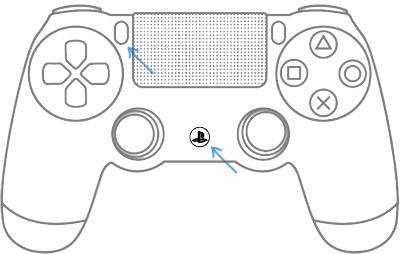 Перевести контроллер PS4 в режим сопряжения