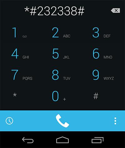 Ввод кода на телефонной клавиатуре
