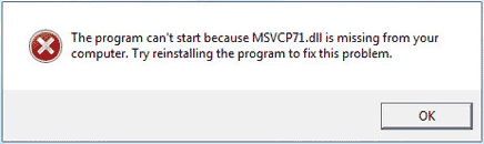 msvcp71.dll не найден