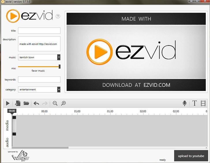 Бесплатная программа для записи с экрана EzVid
