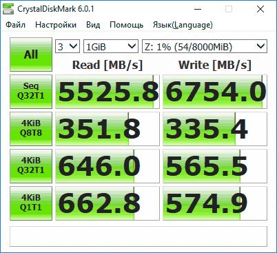 Проверка быстрого SSD
