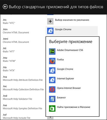 Ассоциации файлов в Windows 8