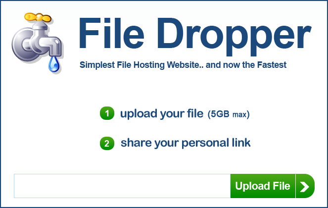 File Dropper Fayl uzatish xizmati