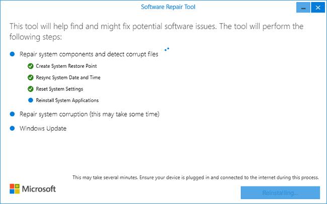Исправление Windows 10 в Software Repair Tool