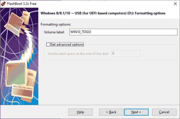 Дополнительные параметры флешки Windows To Go