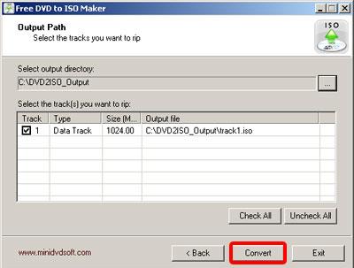 Бесплатная программа Free DVD ISO Maker