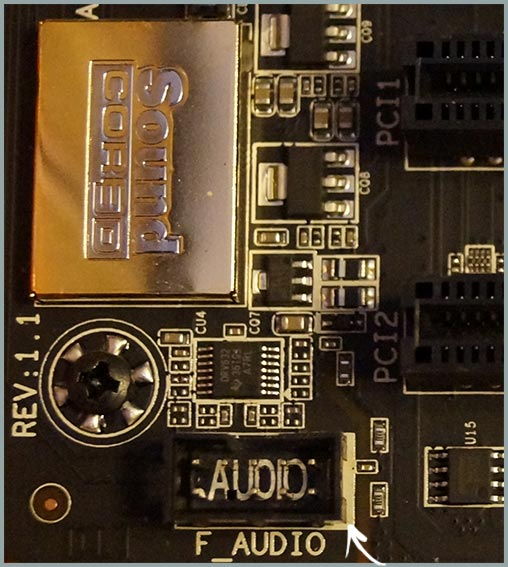 Разъем аудио для передней панели