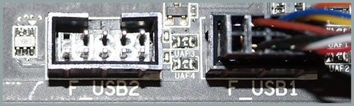 Подключение передних USB  портов