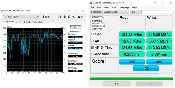 HD Tune и AS SSD Benchmark