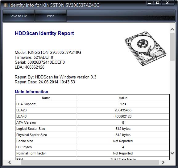 Подробная информация о жестком диске