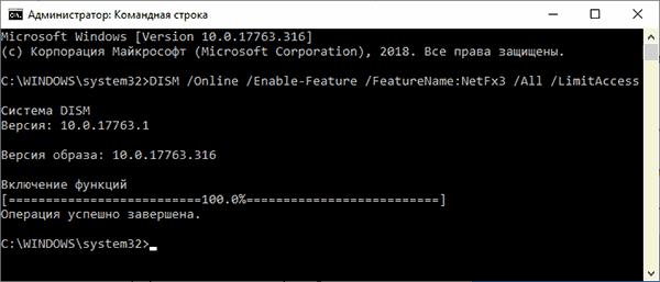 Установка .NET Framework из локального хранилища