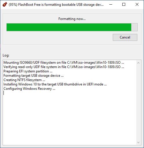 Установка Windows 10 на флешку в Flashboot