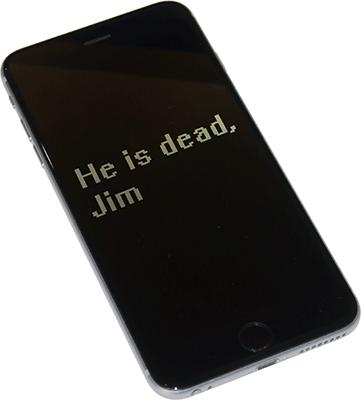Черный экран на iPhone