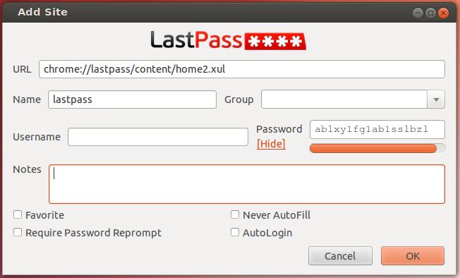 Использование LastPass на Linux