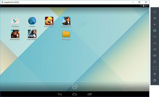 Leapdroid emulyatori android ekrani