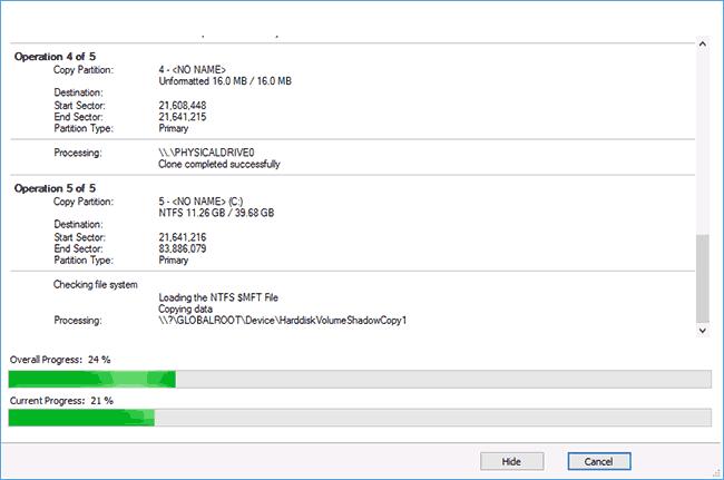 Процесс переноса Windows 10 на SSD
