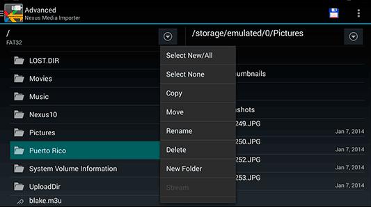 Приложение Nexus Media Importer