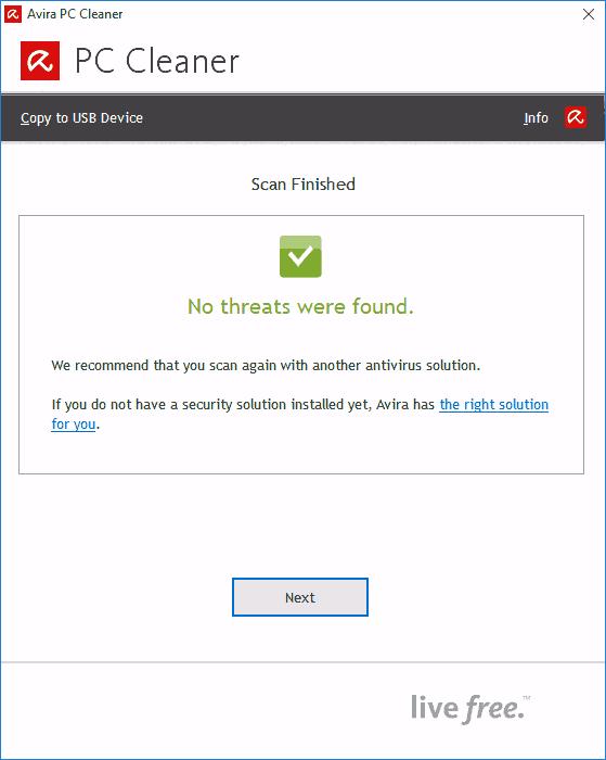 На компьютере нет угроз