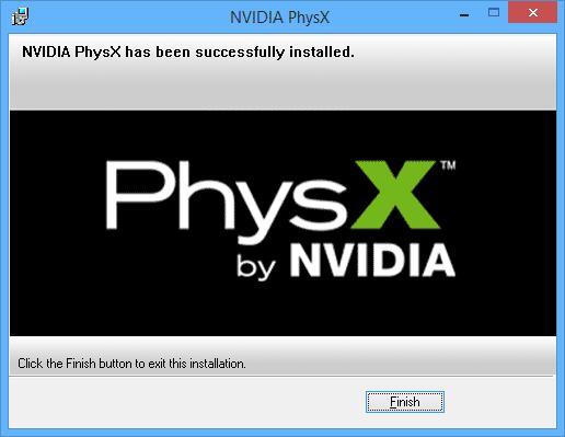 Установка NVidia PhysX
