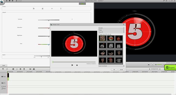 Power Tool в редакторе видео