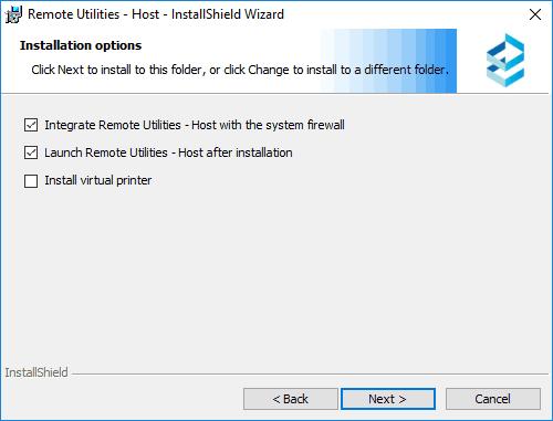 Установка Remote Utilities Host