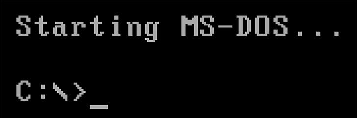 Загрузка DOS