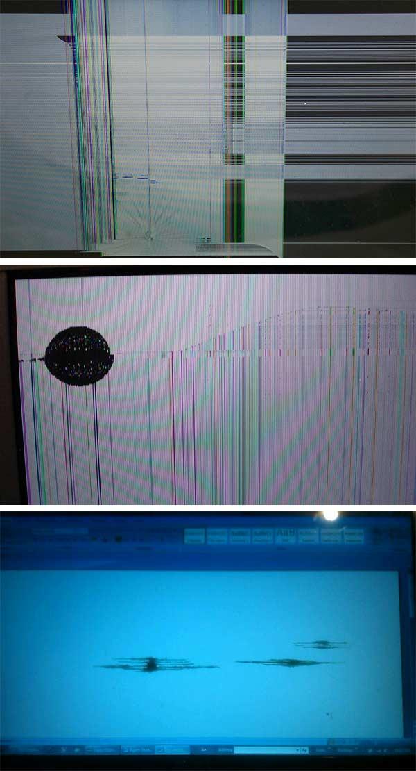 Laptop ekrani yoki monitorining matritsasi buzilganligi sababli chiziqlar