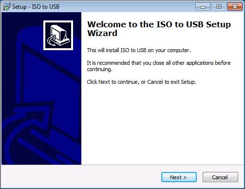 Установка программы ISO to USB