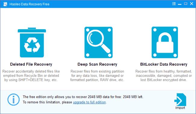 Запустить сканирование в Halseo Data Recovery