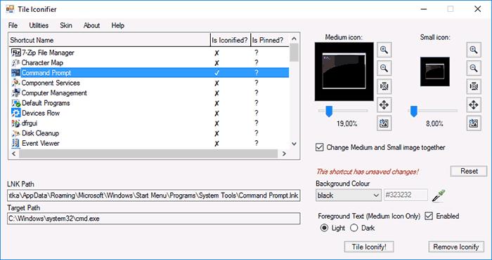Программа Tile Iconifier