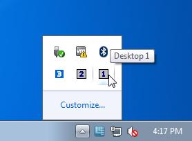 Несколько рабочих столов Windows с помощью Tri-Desk-A-Top