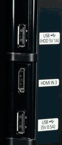 Разъемы USB на телевизоре