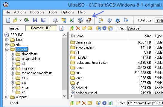 Загрузочный диск с помощью UltraISO