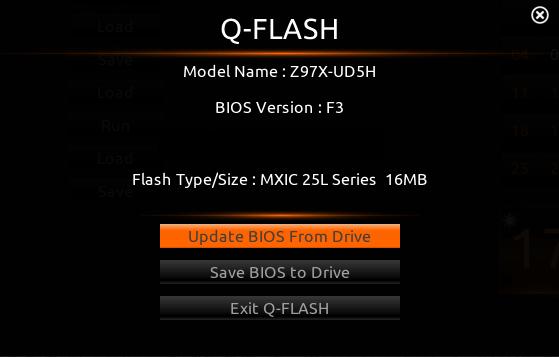 Обновление БИОС с помощью Flash utility