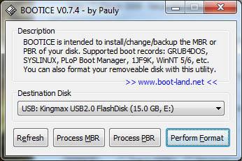 Форматирование флешки для установки Windows XP