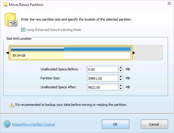 Использование незанятого места для системного диска