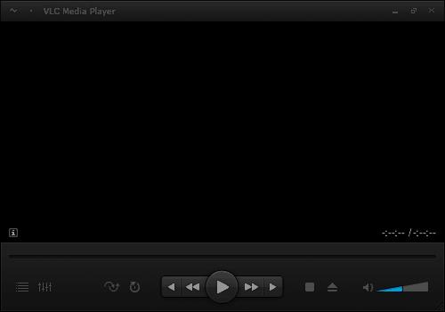 Включенный пользовательский скин VLC