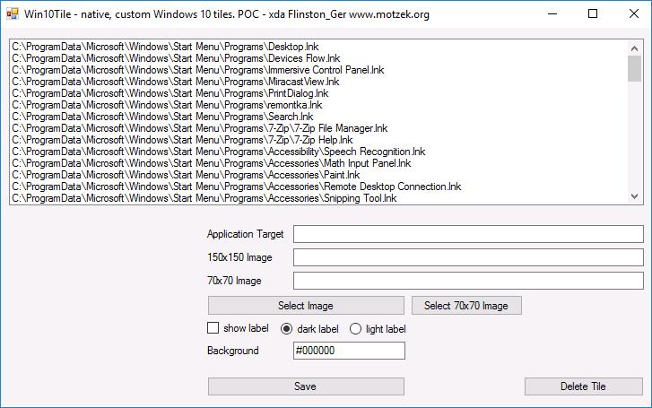Программа Win10Tile