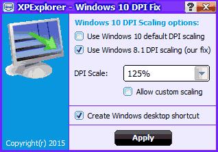 Программа Windows 10 blurry DPI fix