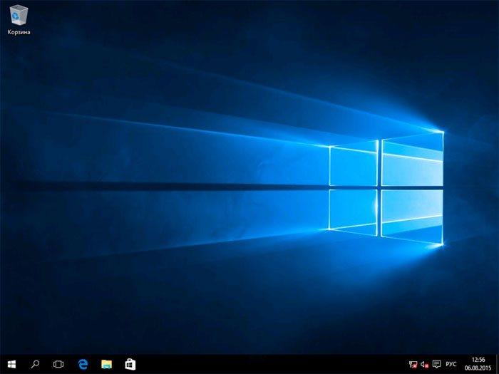 Установка Windows 10 успешно завершена