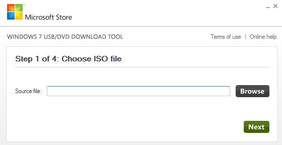 Загрузочная флешка Windows 7 USB/DVD Download Tool