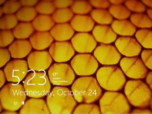 Экран блокировки Windows 8